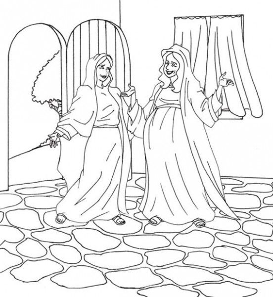 552x600 The Visitation Coloring Page