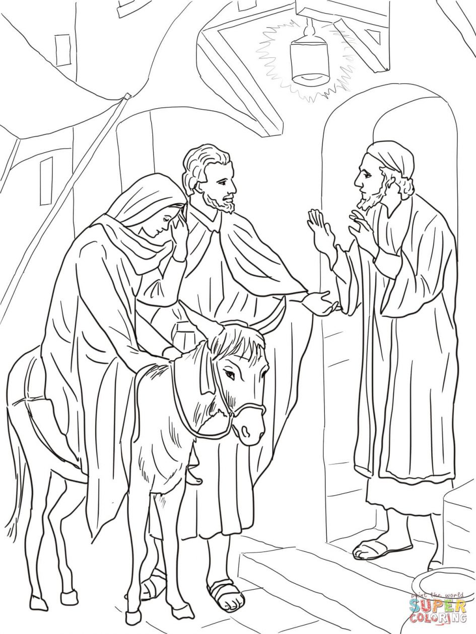 945x1260 Color Pages To Printmary And Angel Mary And Elizabeth Coloring