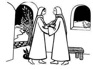300x221 Mary Visits Elizabeth Coloring Page