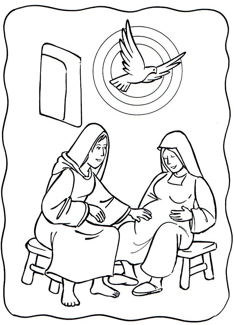 818x1135 Luke Mary Visited Elizabeth Mary Elizabeth Coloring