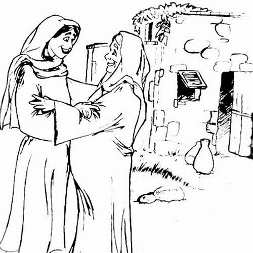 500x500 Mary And Elizabeth Coloring Pages