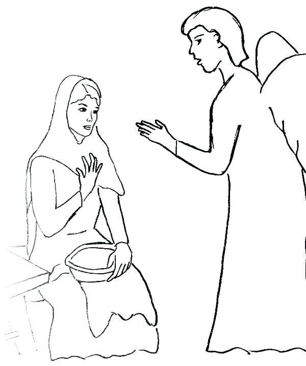 Mary And Joseph Coloring Pages
