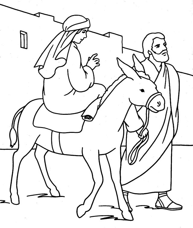 640x757 Mary And Joseph Coloring Pages