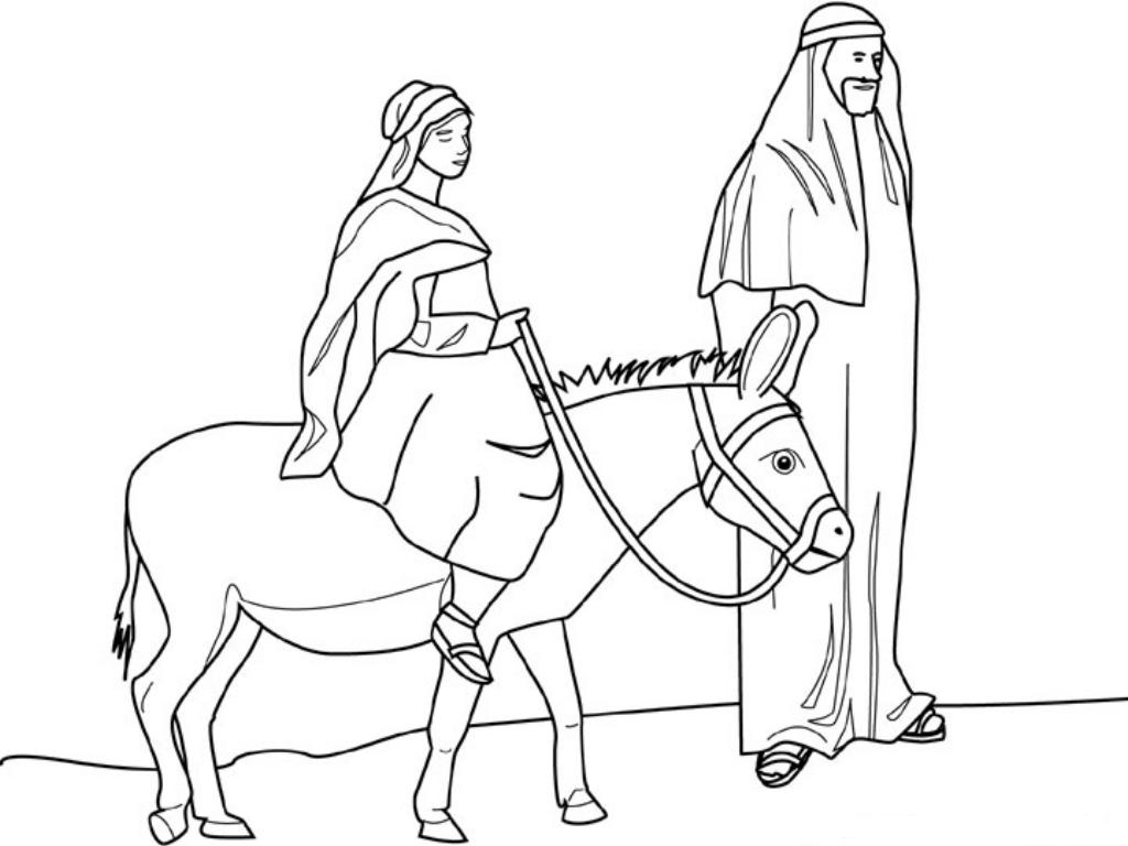 1024x768 Mary And Joseph Coloring Pages