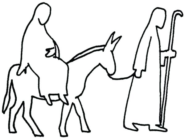 600x446 Mary And Joseph Coloring Pages And Outline Advent Coloring Pages
