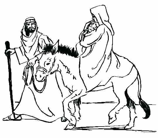 539x471 Mary And Joseph Coloring Pages Pregnant And Mary Joseph Donkey