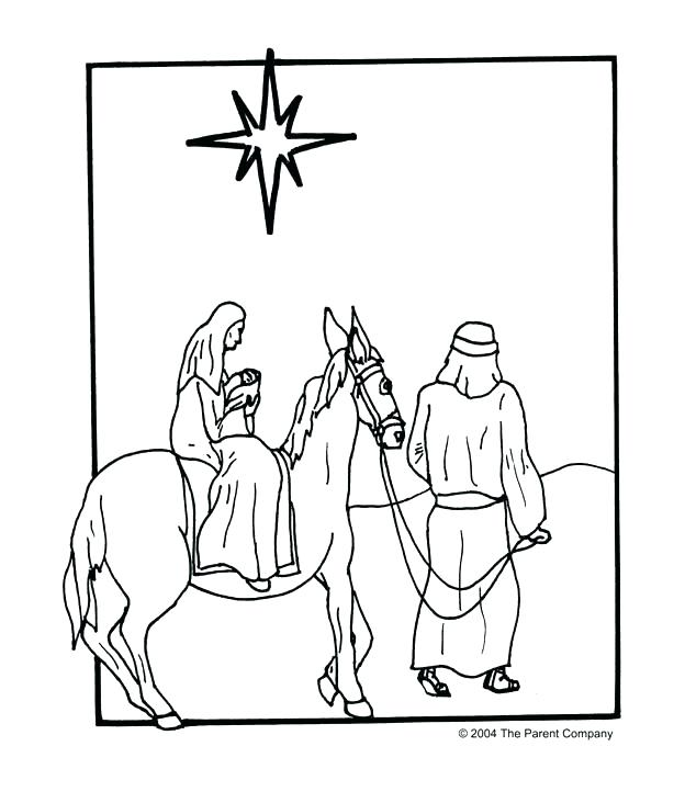 624x732 Mary And Joseph Coloring Pages