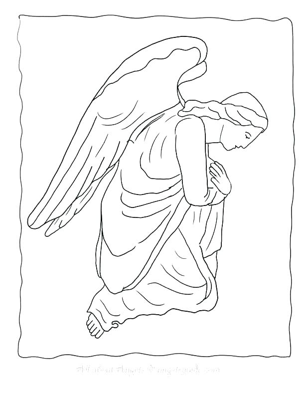 612x792 Mary And The Angel Coloring Page