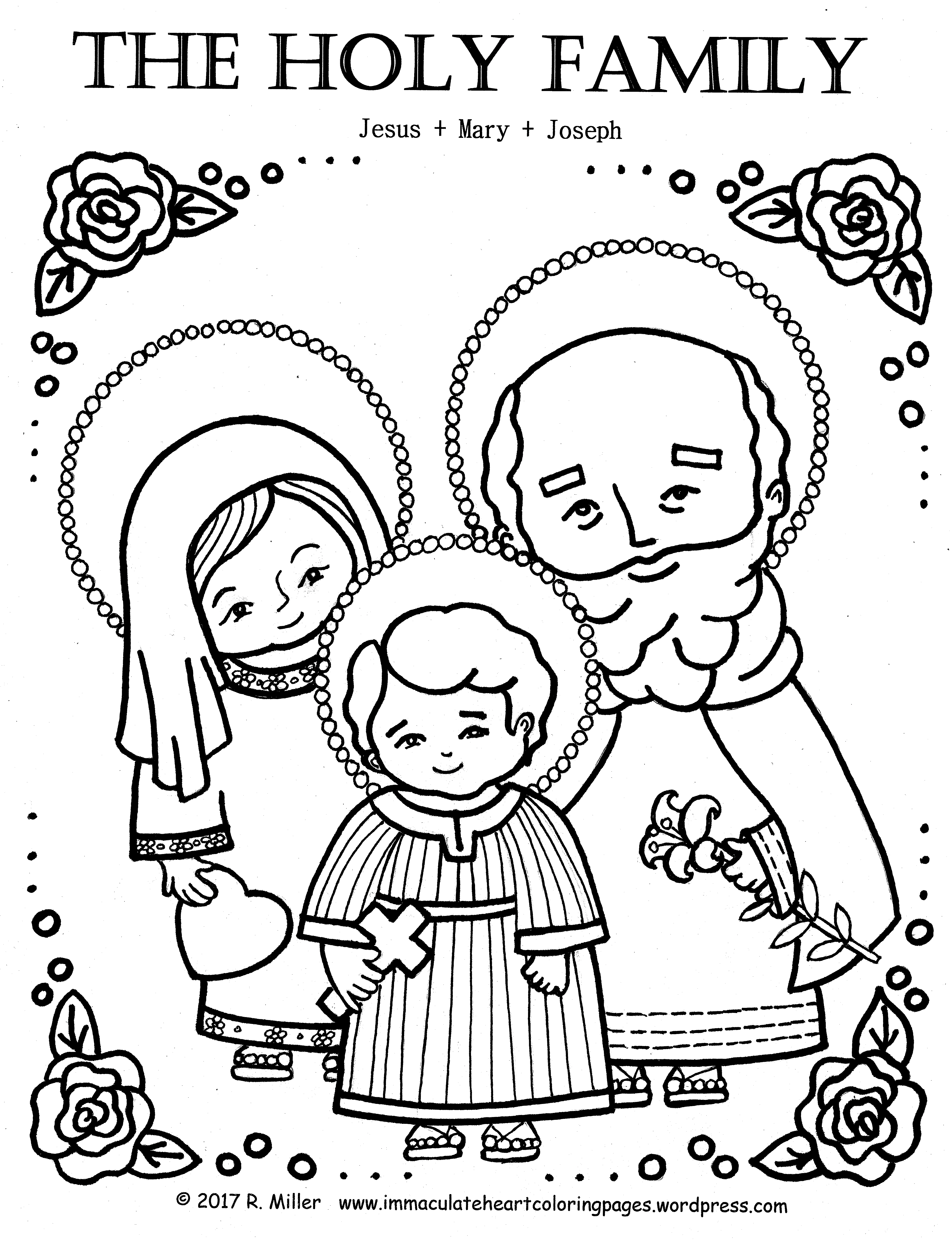 4958x6458 Immaculate Heart Coloring Pages Catholic Christian Pages To Color