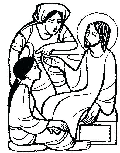395x503 Martha And Mary Coloring Page Printable Coloring Pages