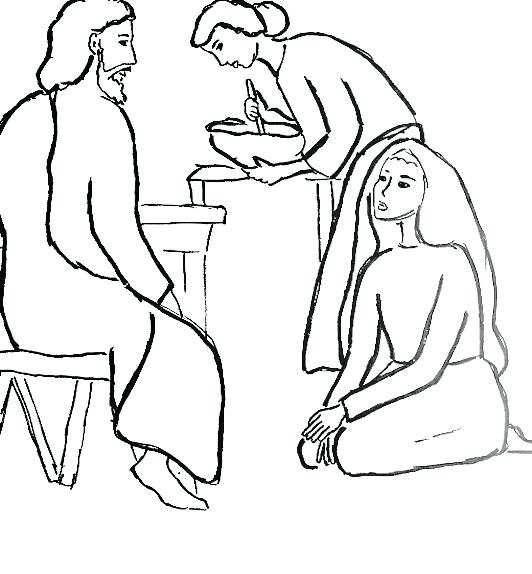 532x574 Mary And Martha Coloring Page Adorable Martha And Mary Coloring