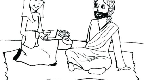 500x280 Mary And Martha Coloring Page And Coloring Page And Coloring Page