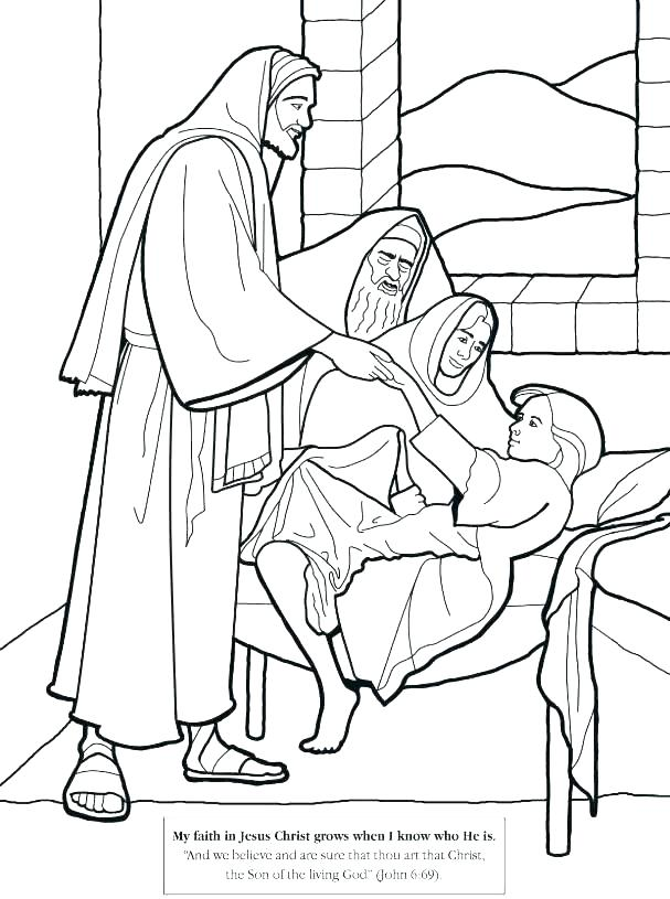 607x815 Mary And Martha Coloring Page Coloring Page Coloring Page Free