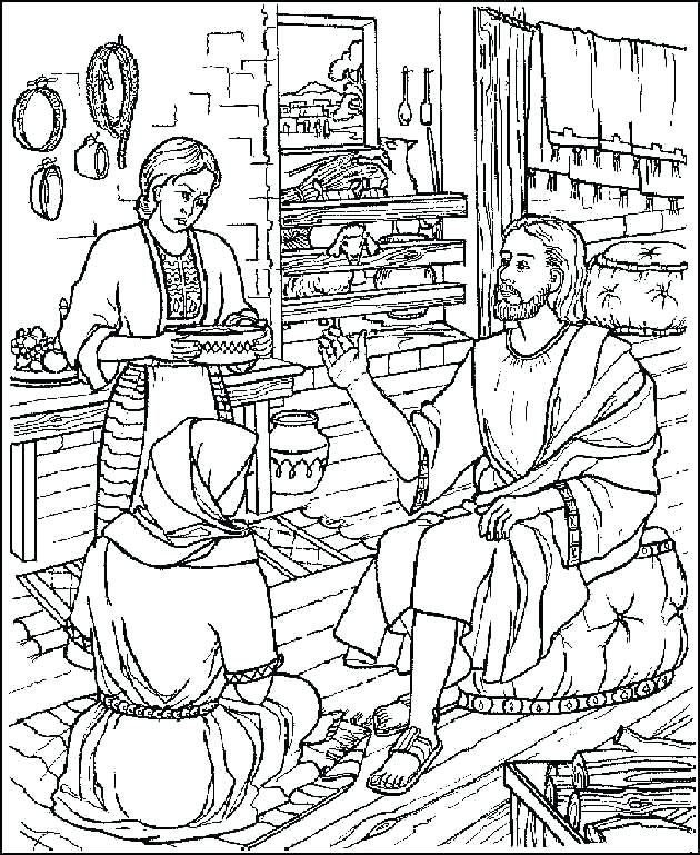 630x769 Mary And Martha Coloring Page Inspiration Mary And Martha Coloring