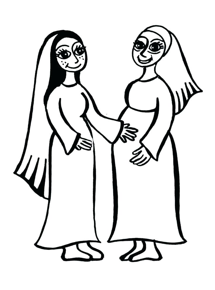 736x993 Mary And Martha Preschool Coloring Page Also Click The Pages Bible