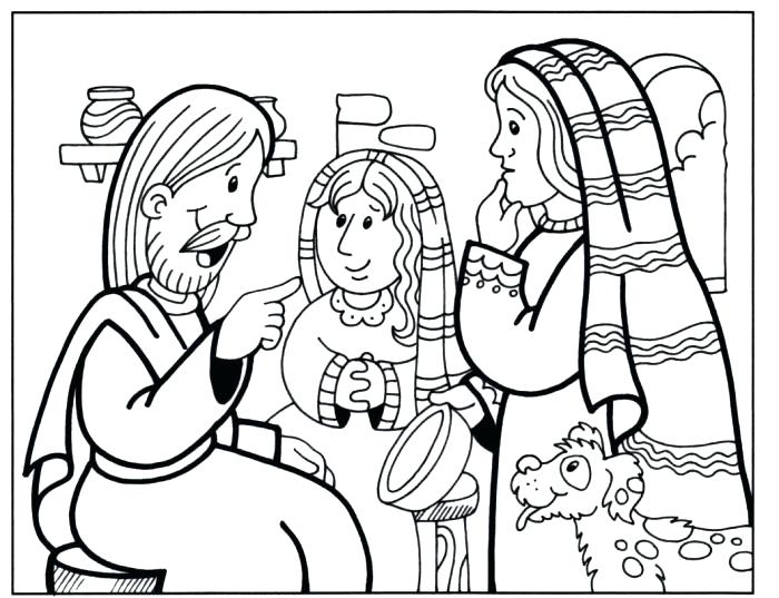 700x537 This Is Mary And Martha Coloring Page Pictures And Coloring Page