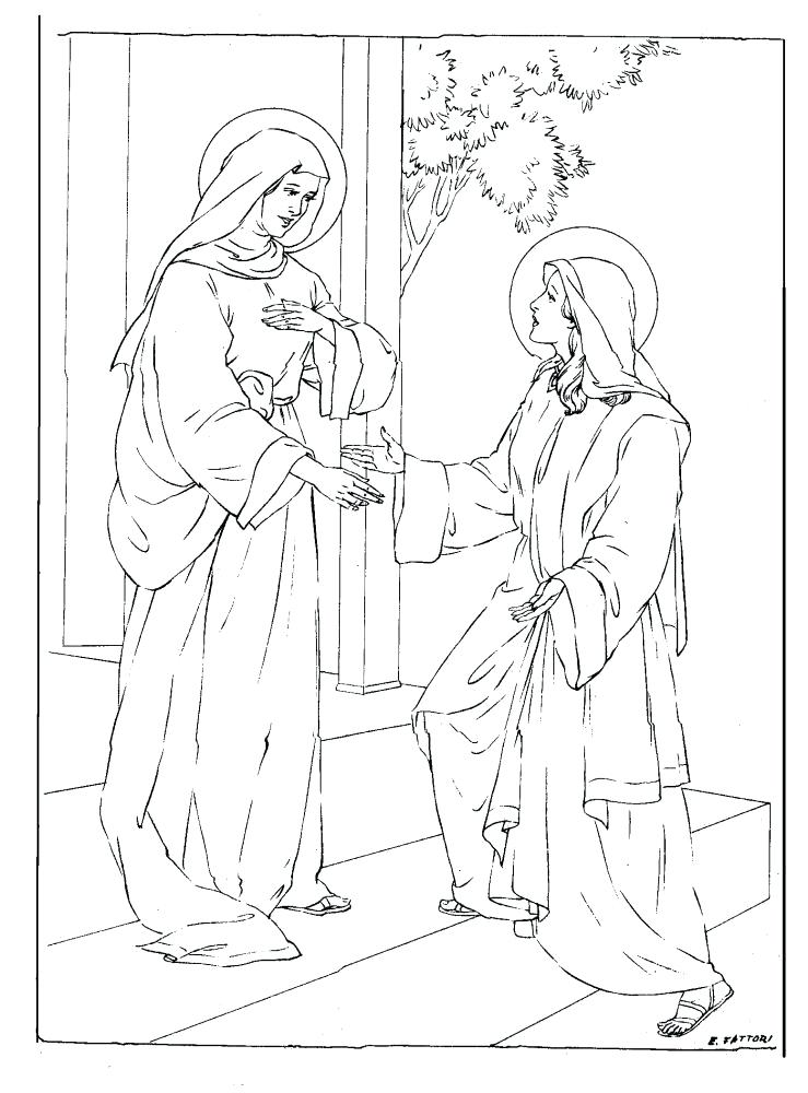 739x1000 Mary And Martha Coloring Page