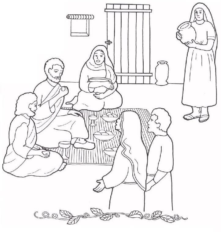 723x758 Image Result For Mary And Martha House Coloring Sheet Sunday