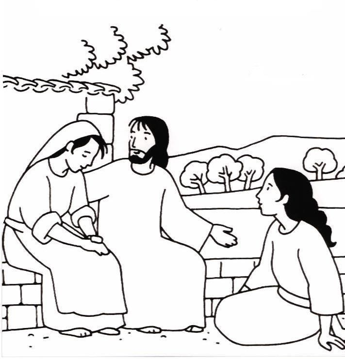 711x741 In Martha And Mary Coloring Page