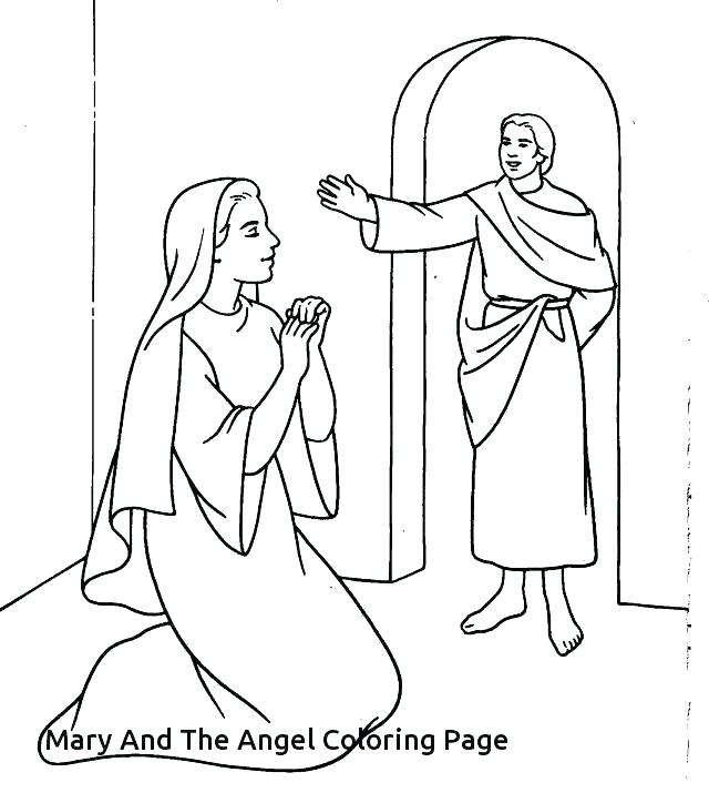 Mary Coloring Pages At Getdrawings Free Download