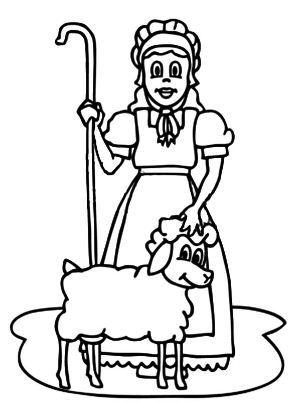 600x800 Mary Had A Little Lamb Coloring Page