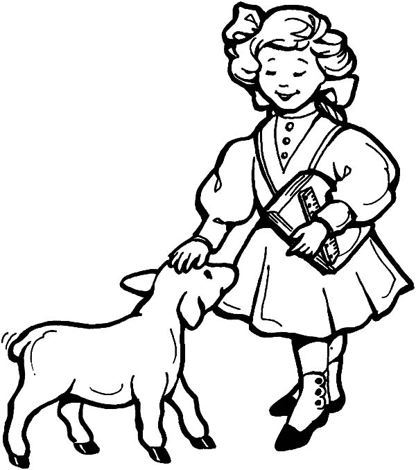 600x678 Mary Had A Little Lamb Coloring Pages Printable Free Coloring Sheets