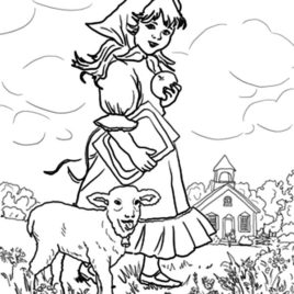 268x268 Mary Had A Little Lamb Gnome Coloring Pages Color Luna Little Lamb