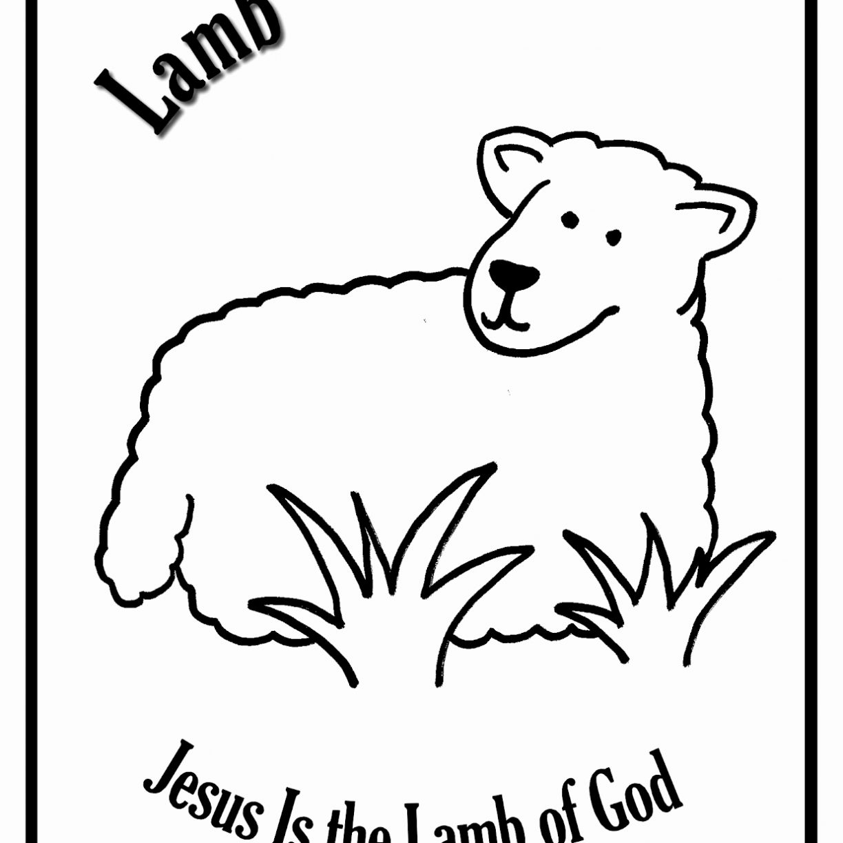1224x1224 Mary Had Little Lamb Color Pages Printable Coloring Kindergarten