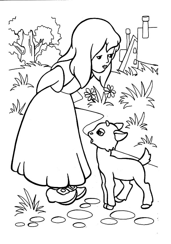 600x855 Mary Had A Little Lamb To Play With Her Coloring Pages Color Luna