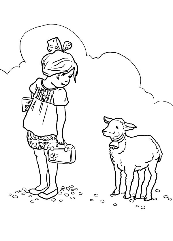 600x833 Mary Had A Little Lamb Coloring Page