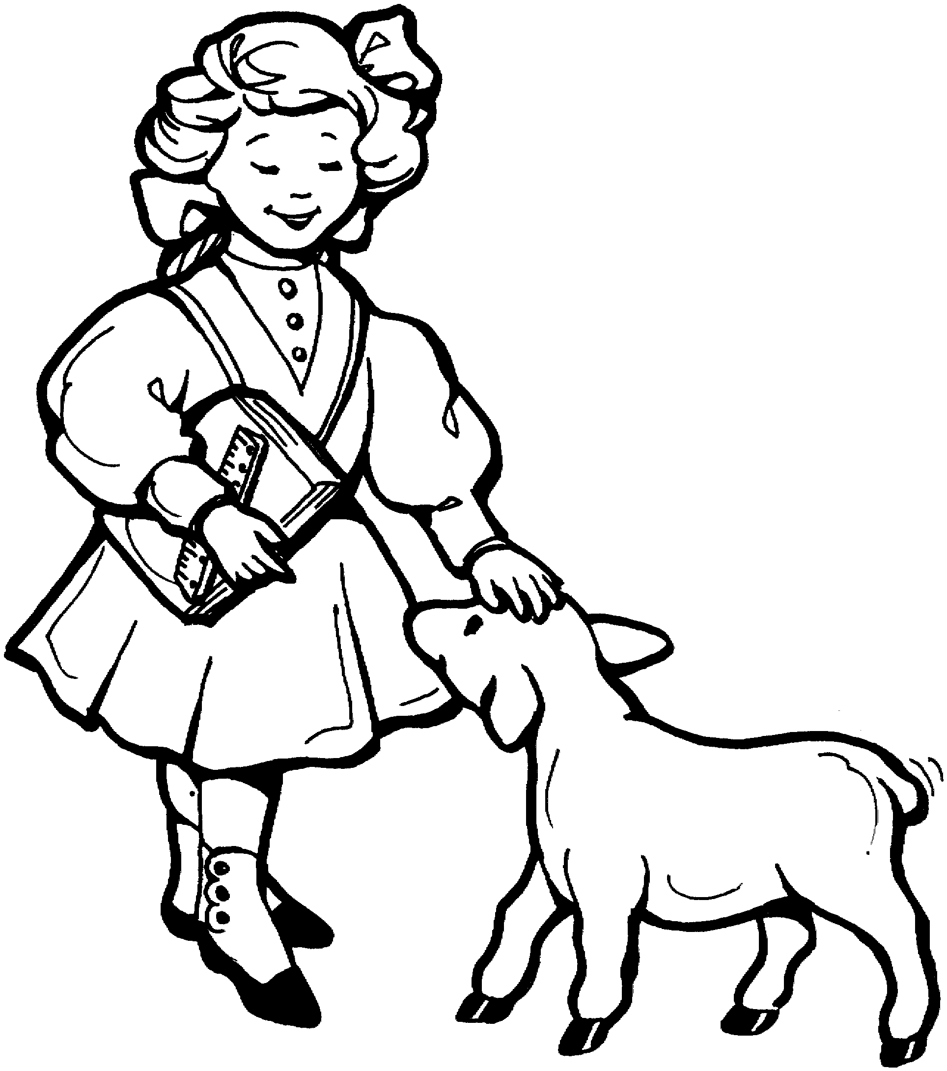 1928x2180 Mary Had A Little Lamb Coloring Page