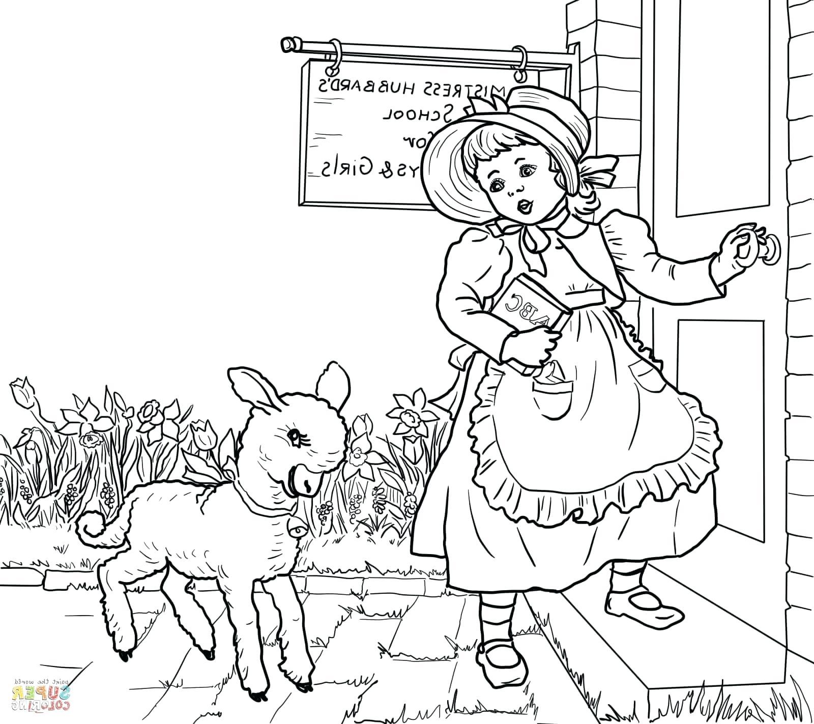 1600x1423 Printable Mary Had A Little Lamb Nursery Rhyme Printable