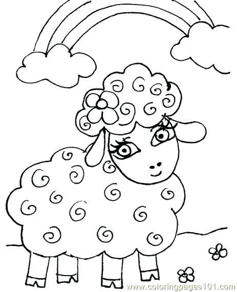 463x571 Coloring Page Sheep Lamb Coloring Sheets Printable Lost Page Image
