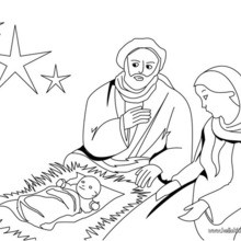 220x220 Joseph, Mary And Jesus Coloring Pages