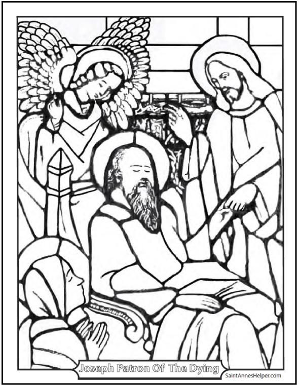 590x762 Saint Joseph Patron Of A Happy Death Coloring Page