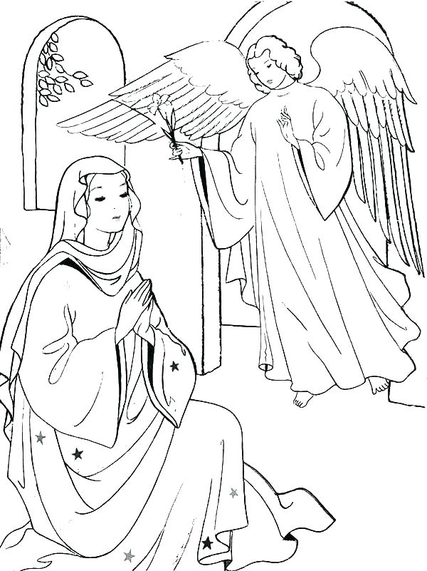 600x801 Mary Joseph Jesus Coloring Pages