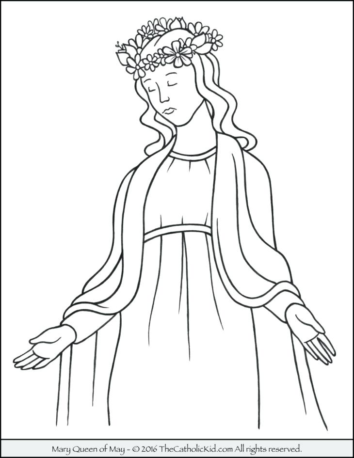 730x945 Mary Jesus Mother Coloring Pages Pictures Free Download Wisekids