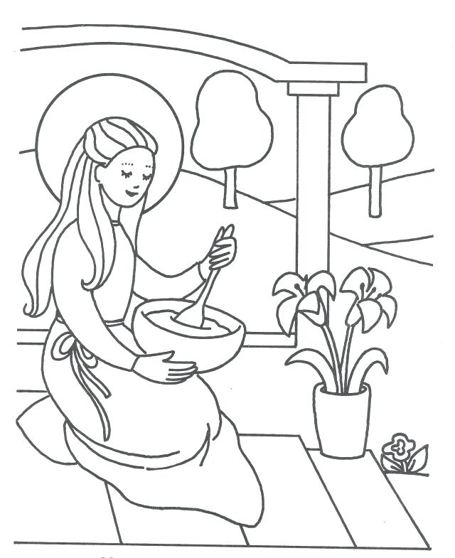 640x785 Mary Mother Of Jesus Coloring Pages Baby Mother Assumption Blessed