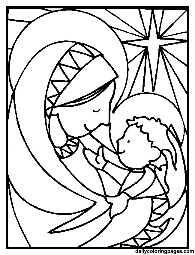 650x851 Mary Mother Of Jesus Coloring Pages Book
