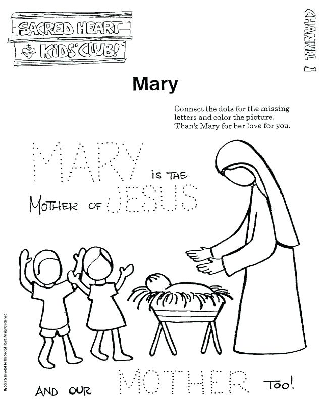 638x800 Mary Mother Of Jesus Coloring Pages Mother Of Coloring Page Image