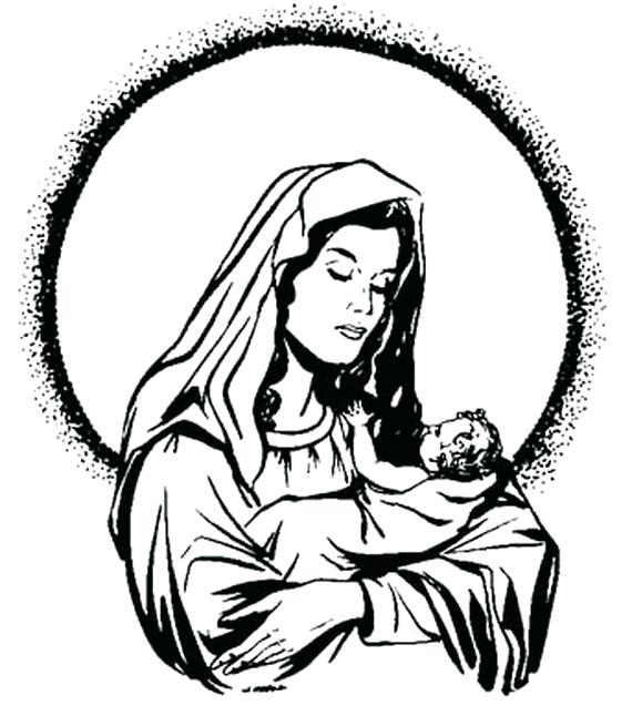 570x646 Mary Mother Jesus Coloring Pages Use Our Assumption