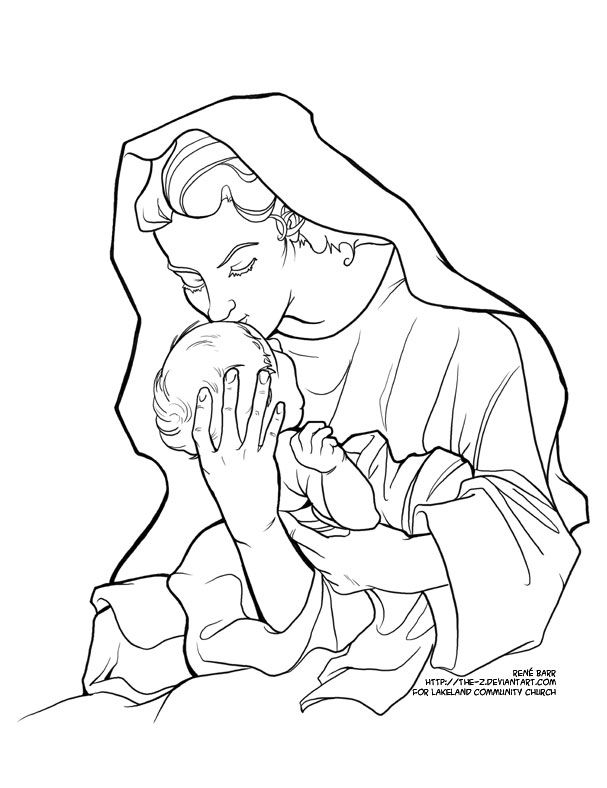 607x788 Blessed Mother Coloring Pages Creative Commons Attribution