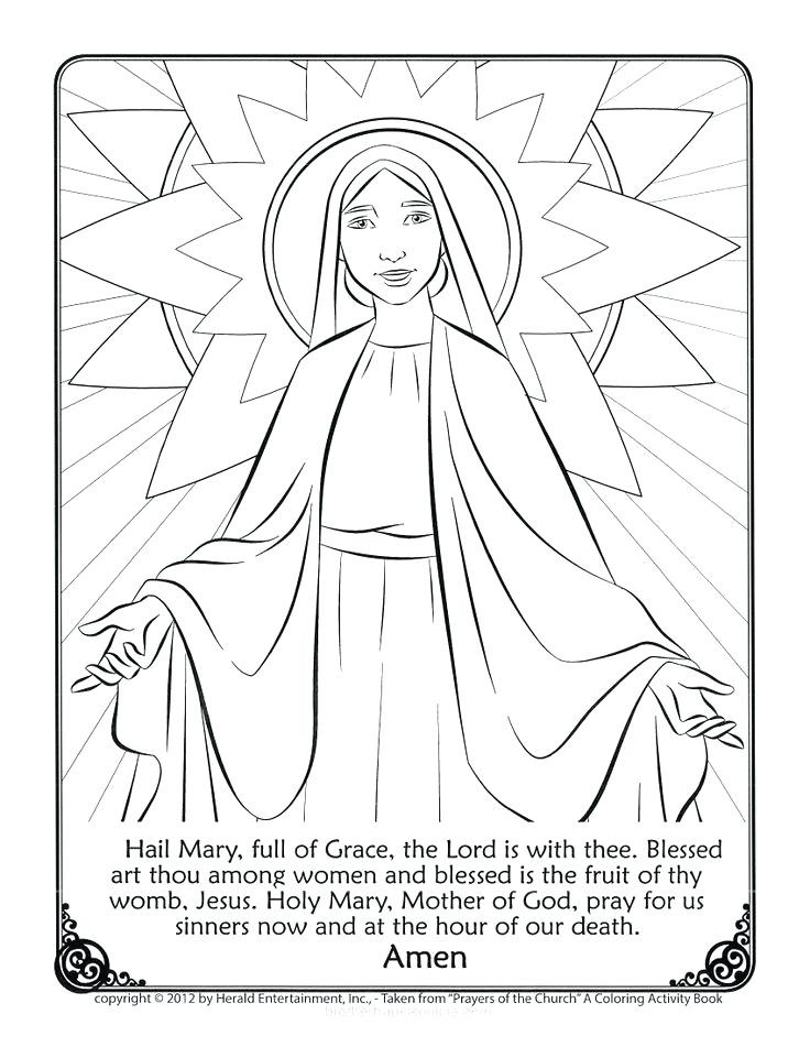 736x951 Coloring Pages Mary Mother Of God Coloring Page Coloring Pictures