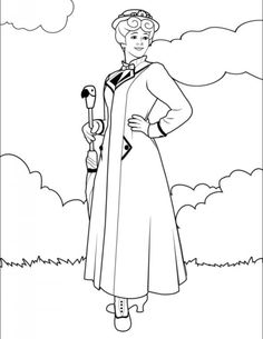 236x305 Mary Poppins Colouring Pages Mary Poppins Mary