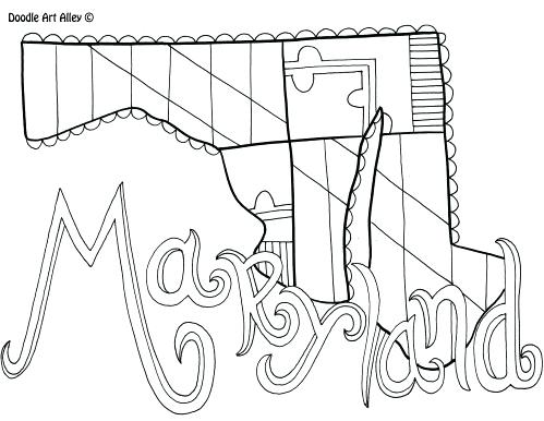 499x386 Maryland Coloring Pages Click To See Printable Version Of Map