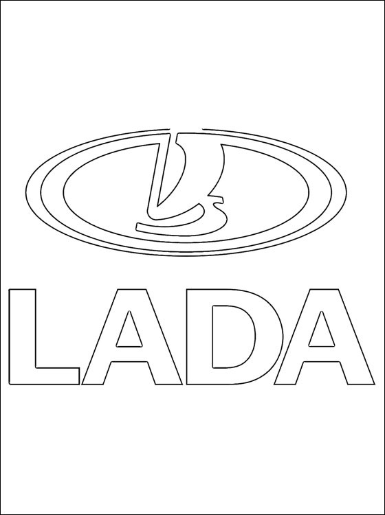 560x750 Coloring Page Lada Logo Coloring Pages