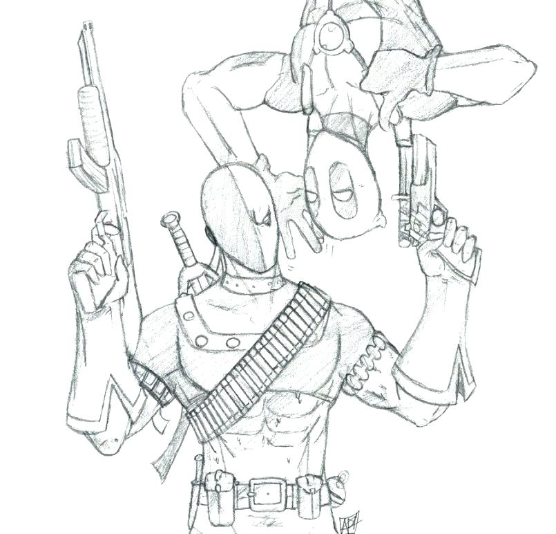 805x772 Deadpool Coloring Pages