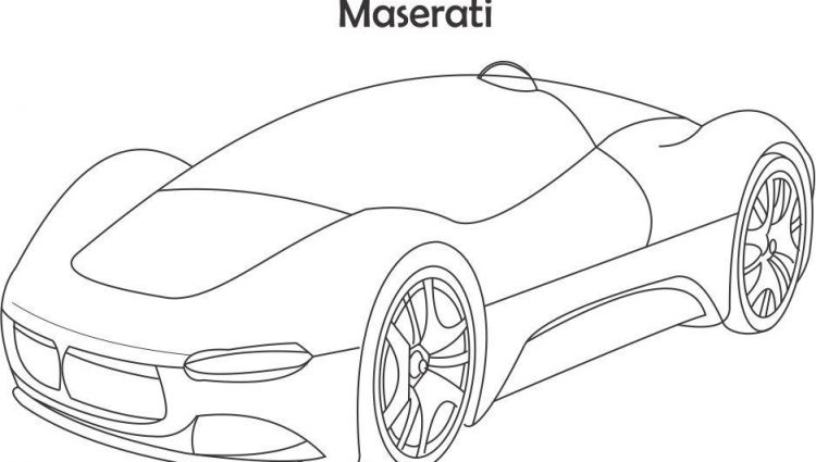 750x425 Maserati Coloring Pages Super Car Maserati Coloring Page For Kids