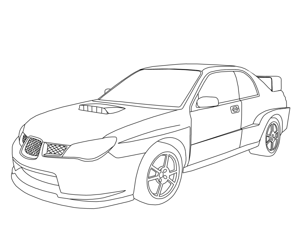 1024x819 Subaru Wrx Sti Coloring Pages Mandala Sketches
