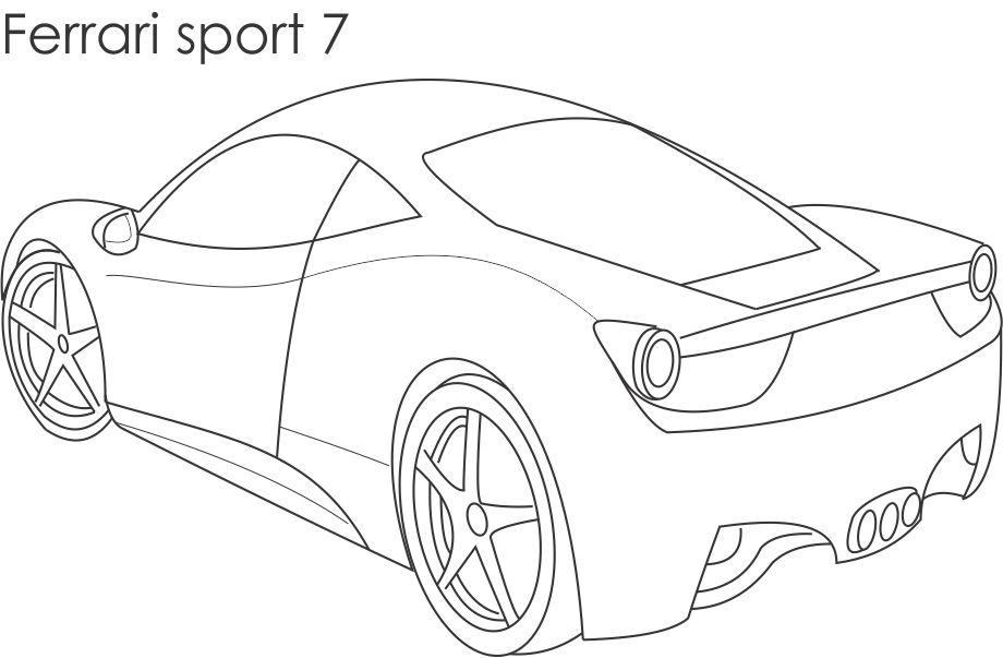 920x603 Super Cars Colouring Pages